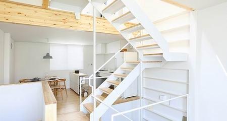 简约风格复式楼楼梯设计全景