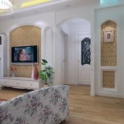 68平白色北欧案例欣赏客厅效果