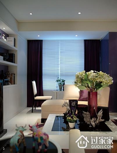 客厅窗帘装饰效果图 时尚现代家居