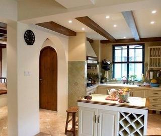 木质混搭小屋欣赏厨房