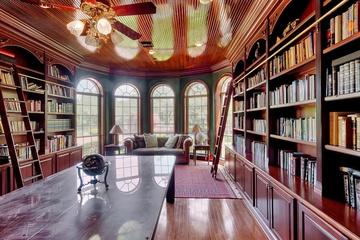 奢华欧式风格效果图书房摆设