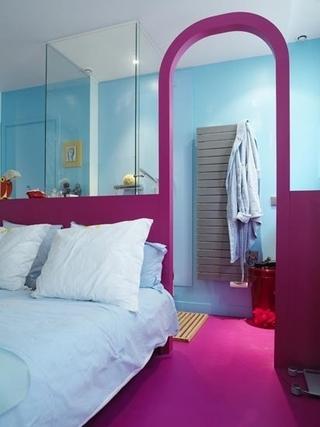 色彩斑斓混搭住宅欣赏卧室