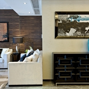 东南亚风格设计客厅角落
