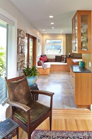 美式风格装饰图厨房飘窗