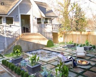 美式时尚风格住宅效果欣赏花园效果图
