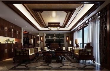 咖啡色中式住宅欣赏客厅设计