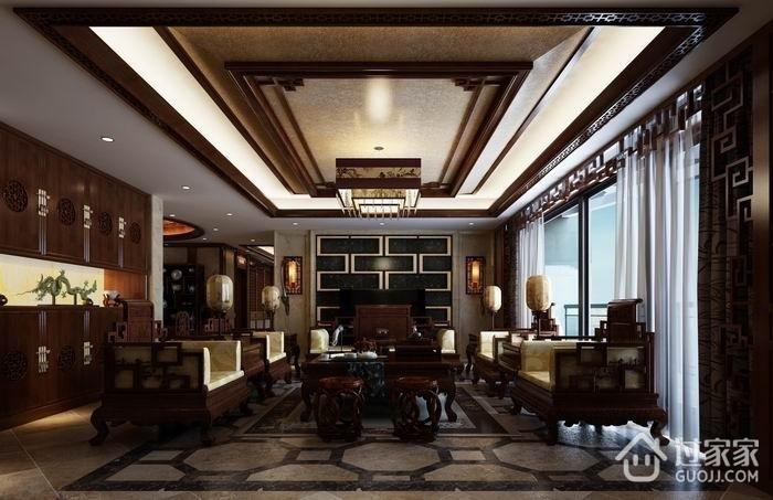 咖啡色中式住宅欣赏