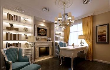 89平新古典两居室欣赏书房书架