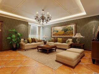 经典优雅家居 新中式客厅灯饰效果图