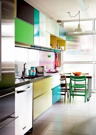 紫色混搭两居室欣赏厨房