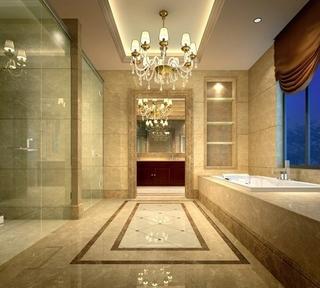 150平欧式大宅设计欣赏卫生间灯饰
