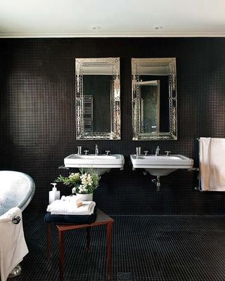 现代感十足的单身公寓欣赏卫生间