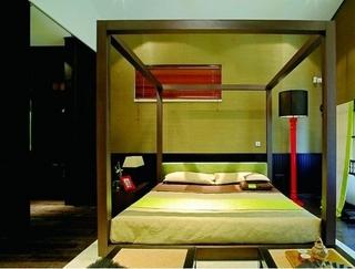 102平中式风格住宅欣赏卧室设计