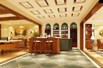 130平美式四居室欣赏厨房吧台