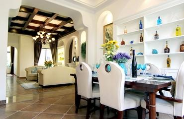 地中海风样板房效果餐厅