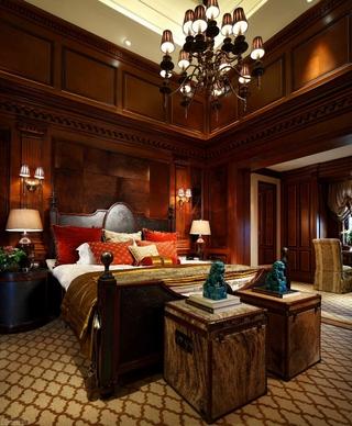 220平奢华美式别墅欣赏卧室
