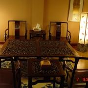 中式风格仿古客厅家具效果图