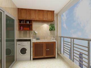 110平雅致中式住宅欣赏阳台室内门