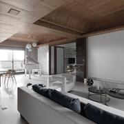 现代简约风公寓套图客厅侧面