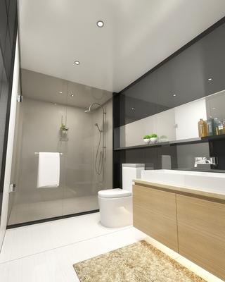 97平现代住宅欣赏卫生间吊顶