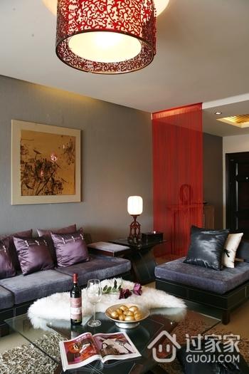中式效果图客厅沙发