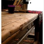 原木无漆餐桌