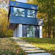 与森林呼应的现代风格欣赏庭院