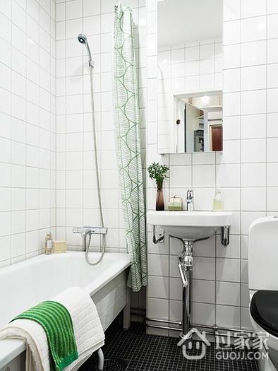坐拥书墙的宜家两居室欣赏卫生间