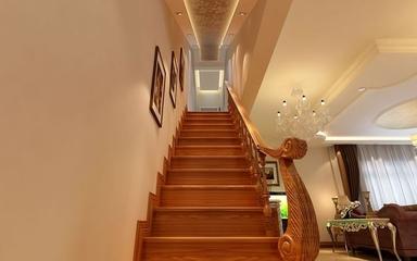 135平欧式奢华复式欣赏楼梯间