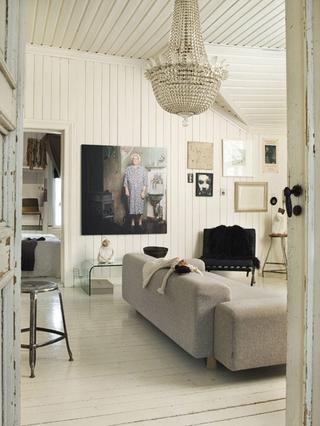 白色复古混搭一居室欣赏