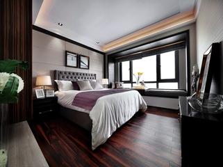 奢华新古典样板房欣赏卧室背景墙