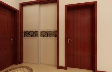 80平简约三居室欣赏室内门