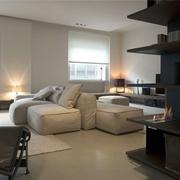 现代风格设计效果客厅全景