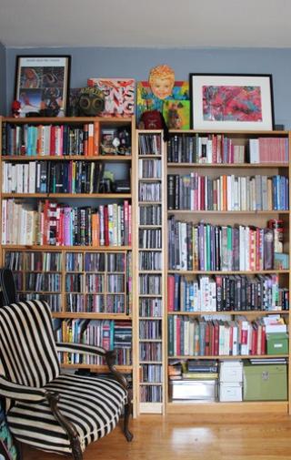 混搭书房书架摆放图 80后个性家