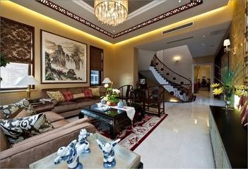 混搭奢华三居室欣赏客厅背景墙