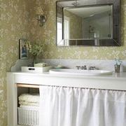 繁花散作壁纸控的家欣赏洗手间设计