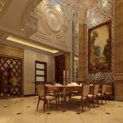 奢华欧式风格装饰效果餐桌设计