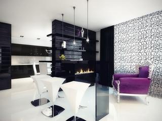 黑白现代奢华住宅欣赏厨房