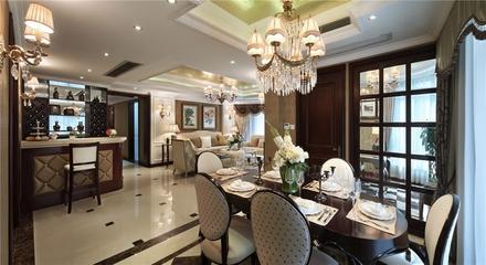新古典装饰样板房欣赏餐厅过道