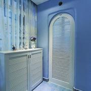 112平蓝色地中海住宅欣赏玄关鞋柜