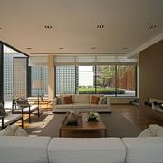 豪华现代风客厅整体效果图