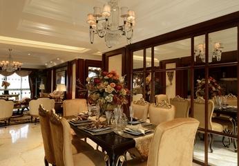 优雅美式餐厅灯饰效果图 精致家装