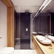 卫生间推拉门装修效果图 自然现代风