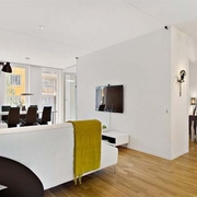 116平时尚简约公寓欣赏客厅设计