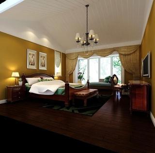 美式乡村绿宅欣赏卧室吊顶