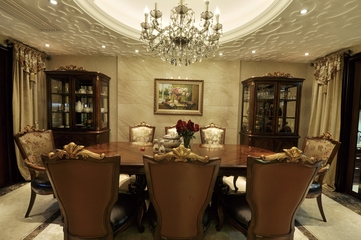 欧式风格复式楼餐厅设计效果