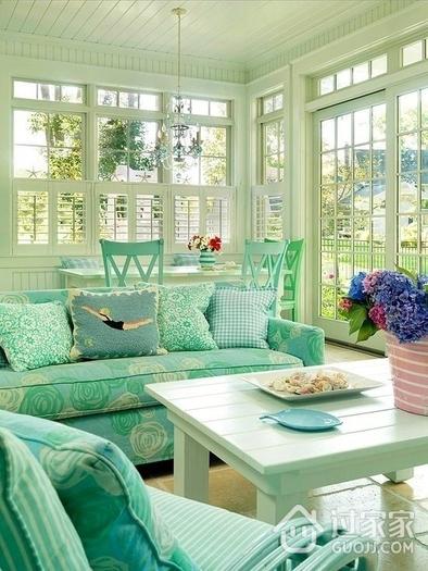 混搭彩色住宅欣赏客厅