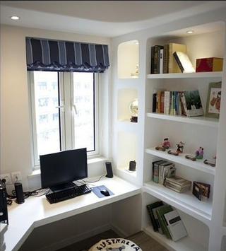 白色地中海家居住宅欣赏书房