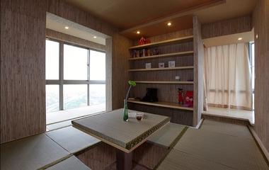 95平简约三居室住宅欣赏茶室设计