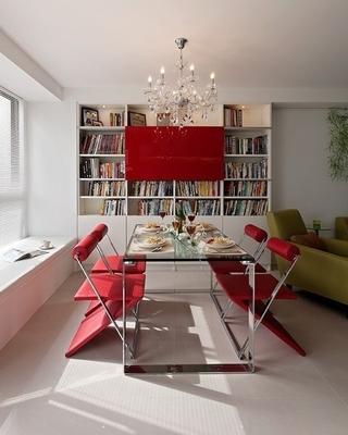 白色现代风住宅欣赏餐厅效果